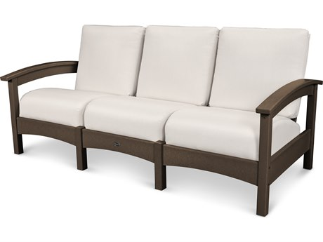 Trex® Outdoor Furniture Rockport Club Sofa in Vintage Lantern / Bird's Eye TRXTXC71VL5472