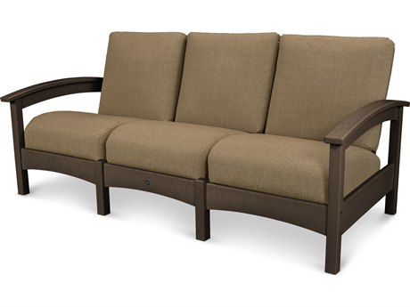 Trex® Outdoor Furniture Rockport Club Sofa in Vintage Lantern / Sesame TRXTXC71VL8318