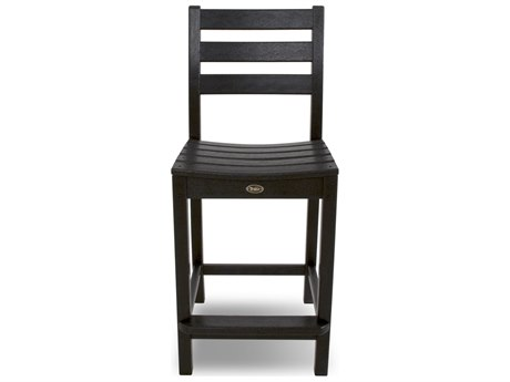 Trex® Outdoor Furniture Monterey Bay Counter Side Chair in Charcoal Black
