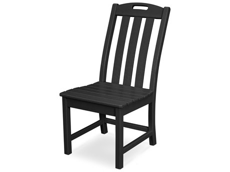Trex Outdoor Furniture Yacht Club Dining Side Chair in Charcoal Black