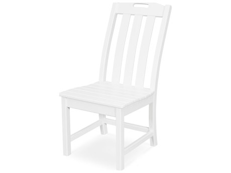 Trex Outdoor Furniture Yacht Club Dining Side Chair in Classic White