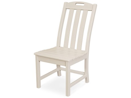 Trex Outdoor Furniture Yacht Club Dining Side Chair in Sand Castle