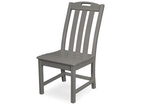 Trex Outdoor Furniture Yacht Club Dining Side Chair in Stepping Stone