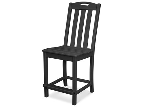 Trex Outdoor Furniture Yacht Club Counter Side Chair in Charcoal Black