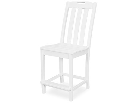 Trex Outdoor Furniture Yacht Club Counter Side Chair in Classic White