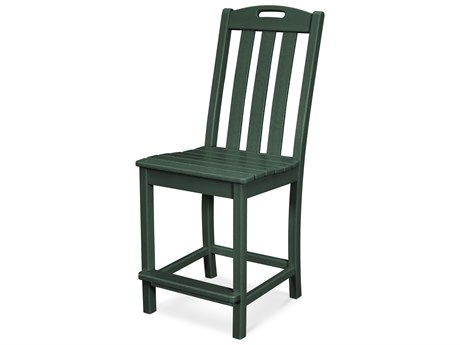 Trex Outdoor Furniture Yacht Club Counter Side Chair in Rainforest Canopy