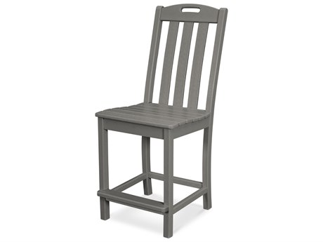 Trex Outdoor Furniture Yacht Club Counter Side Chair in Stepping Stone