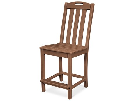 Trex Outdoor Furniture Yacht Club Counter Side Chair in Tree House