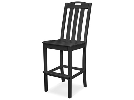 Trex Outdoor Furniture Yacht Club Bar Side Chair in Charcoal Black