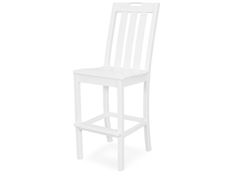 Trex Outdoor Furniture Yacht Club Bar Side Chair in Classic White