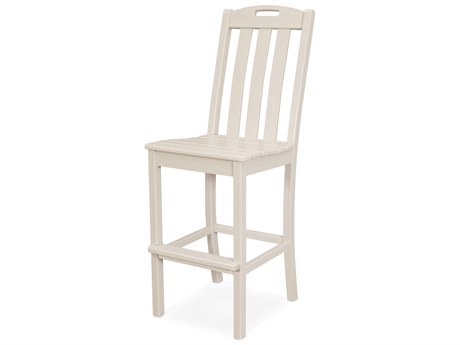 Trex Outdoor Furniture Yacht Club Bar Side Chair in Sand Castle