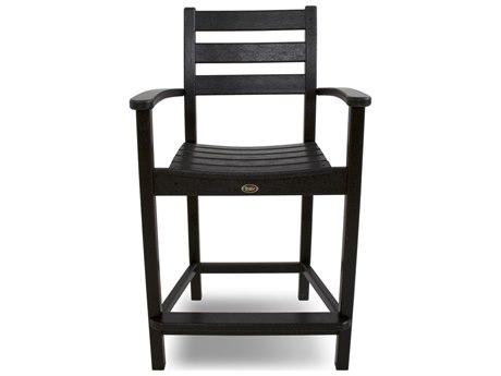 Trex® Outdoor Furniture Monterey Bay Counter Arm Chair in Charcoal Black