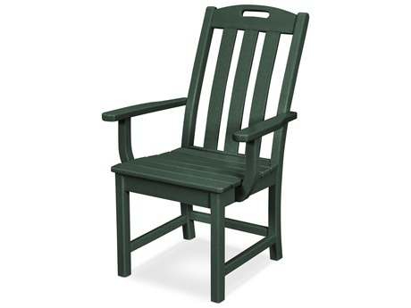Trex Outdoor Furniture Yacht Club Dining Arm Chair in Rainforest Canopy