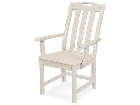 Trex Outdoor Furniture Yacht Club Dining Arm Chair in Sand Castle