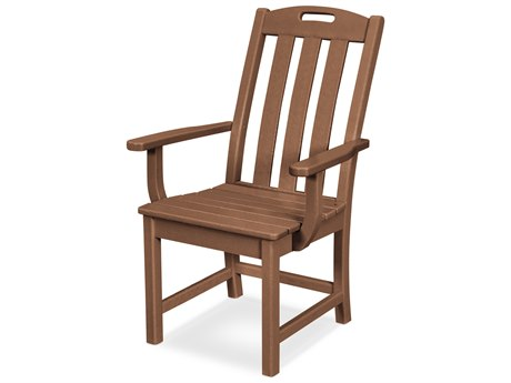 Trex Outdoor Furniture Yacht Club Dining Arm Chair in Tree House