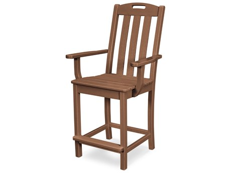 Trex Outdoor Furniture Yacht Club Counter Arm Chair in Tree House