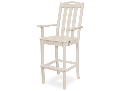 Trex Outdoor Furniture Yacht Club Bar Arm Chair in Sand Castle
