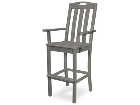 Trex Outdoor Furniture Yacht Club Bar Arm Chair in Stepping Stone