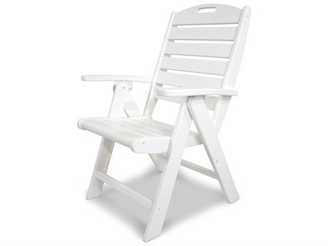 Trex® Outdoor Furniture Yacht Club Highback Chair in Classic White
