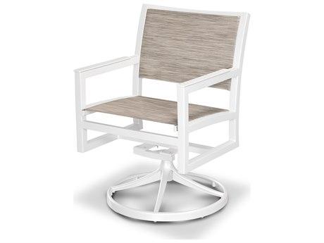 Trex® Outdoor Furniture Cube Swivel Rocker in Satin White