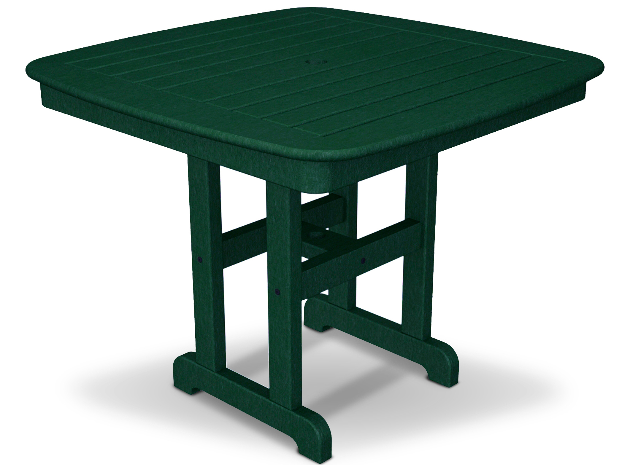 trex yacht club recycled plastic 37 square dining table