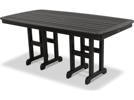 Trex® Outdoor Furniture Yacht Club 37'' x 72'' Dining Table in Charcoal Black TRXTXNCT3772CB