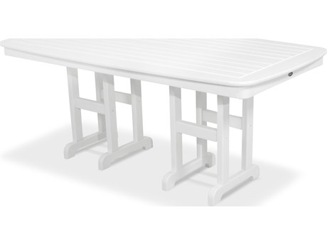 Trex® Outdoor Furniture Yacht Club 37'' x 72'' Dining Table in Classic White