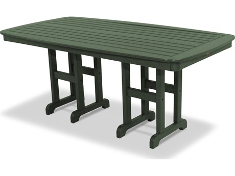 Trex® Outdoor Furniture Yacht Club 37'' x 72'' Dining Table in Rainforest Canopy