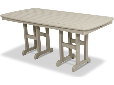 Trex® Outdoor Furniture Yacht Club 37'' x 72'' Dining Table in Sand Castle