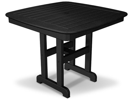 Trex® Outdoor Furniture Yacht Club 37'' Dining Table in Charcoal Black TRXTXNCT37CB