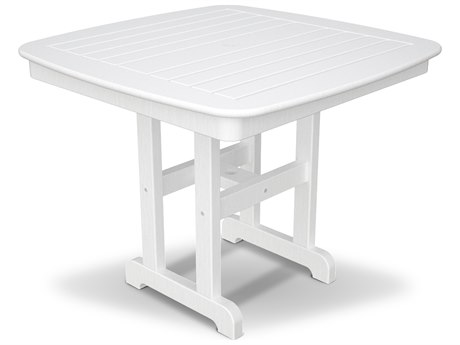 Trex® Outdoor Furniture Yacht Club 37'' Dining Table in Classic White