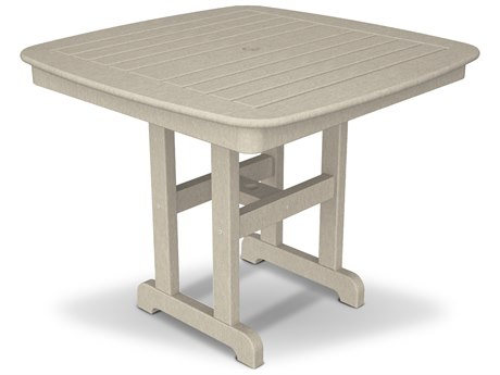 Trex® Outdoor Furniture Yacht Club 37'' Dining Table in Sand Castle