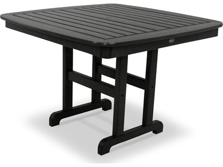 Trex® Outdoor Furniture Yacht Club 44'' Dining Table in Charcoal Black TRXTXNCT44CB