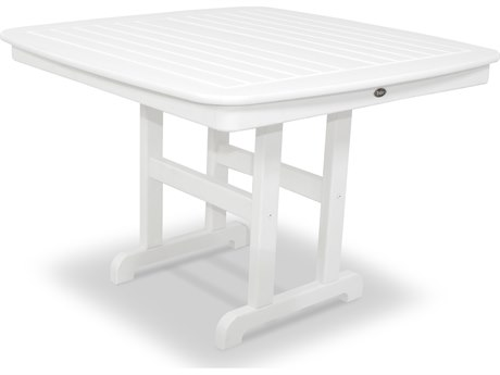 Trex® Outdoor Furniture Yacht Club 44'' Dining Table in Classic White
