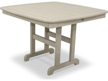 Trex® Outdoor Furniture Yacht Club 44'' Dining Table in Sand Castle