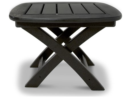 Trex® Outdoor Furniture Yacht Club 21'' x 18'' Side Table in Charcoal Black