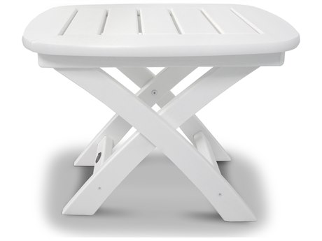 Trex® Outdoor Furniture Yacht Club 21'' x 18'' Side Table in Classic White