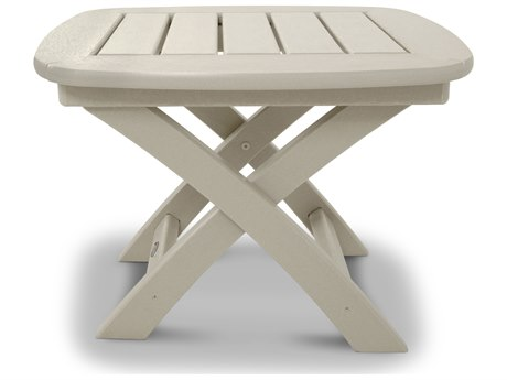 Trex® Outdoor Furniture Yacht Club 21'' x 18'' Side Table in Sand Castle