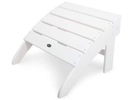 Trex® Outdoor Furniture Yacht Club Ottoman in Classic White
