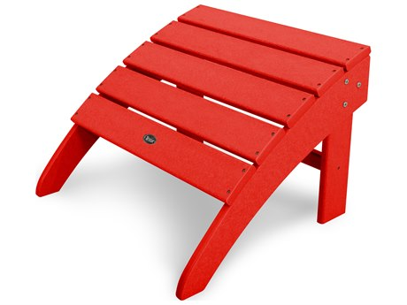 Trex® Outdoor Furniture Yacht Club Ottoman in Sunset Red