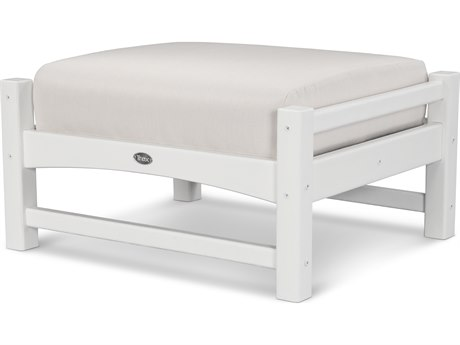 Trex® Outdoor Furniture Rockport Club Ottoman in Classic White / Bird's Eye TRXTXO23CW5472