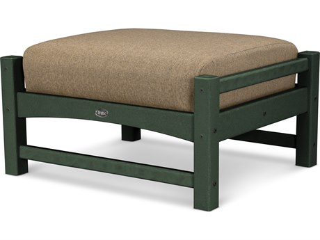 Trex® Outdoor Furniture Rockport Club Ottoman in Rainforest Canopy / Sesame TRXTXO23RC8318