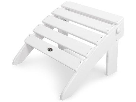 Trex® Outdoor Furniture Cape Cod Folding Ottoman in Classic White