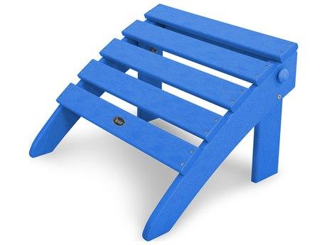 Trex® Outdoor Furniture Cape Cod Folding Ottoman in Pacific Blue