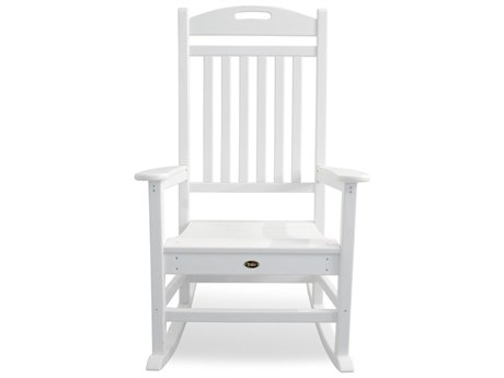 Trex® Outdoor Furniture Yacht Club Rocking Chair in Classic White