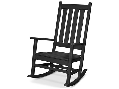 Trex Outdoor Furniture Cape Cod Porch Rocking Chair in Charcoal Black
