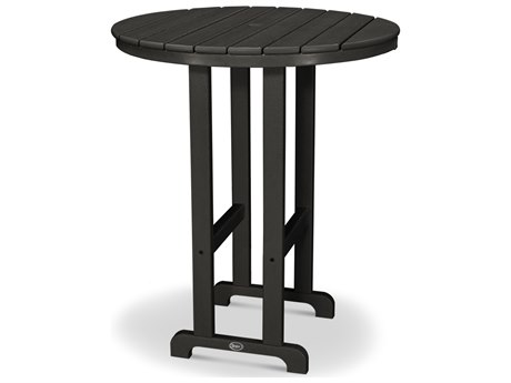 Trex® Outdoor Furniture Monterey Bay Round 36'' Bar Table in Charcoal Black