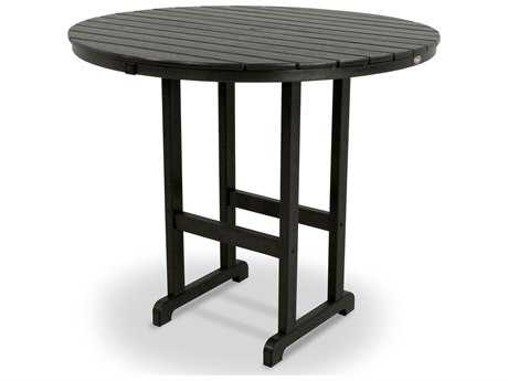 Trex® Monterey Bay Recycled Plastic 48 Round Bar Table TRXTXRBT248