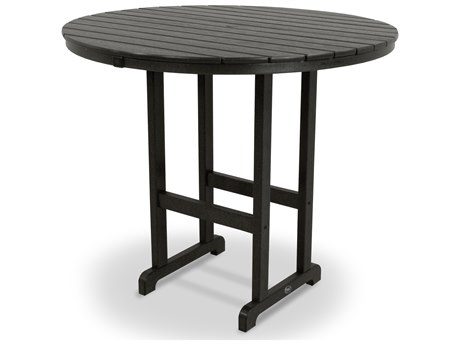 Trex® Outdoor Furniture Monterey Bay Round 48'' Bar Table in Charcoal Black