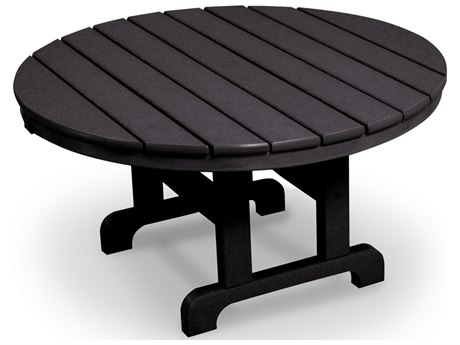 Trex® Outdoor Furniture Cape Cod Round 36'' Conversation Table in Charcoal Black